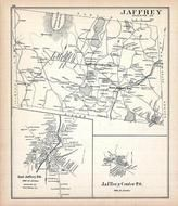 Jaffrey, Jaffrey East, Jaffrey Center, New Hampshire State Atlas 1892 Uncolored